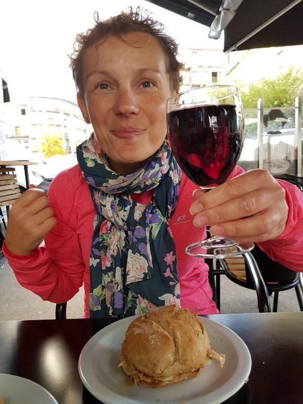 Kanapka, wino, Casa Guedes, Porto