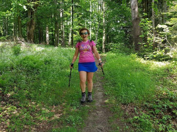 dziewczyna na szlaku, Góry Leluchowskie