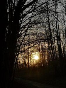 Dolina Gościnna, zachód słońca, Bielsko-Biała