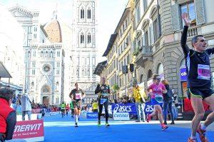 dziewczyna, bieganie, maraton, Florencja