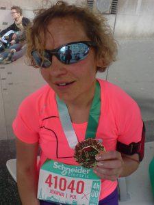 dziewczyna, maraton, Paryż