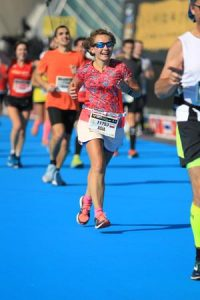 dziewczyna, bieganie, maraton, Walencja