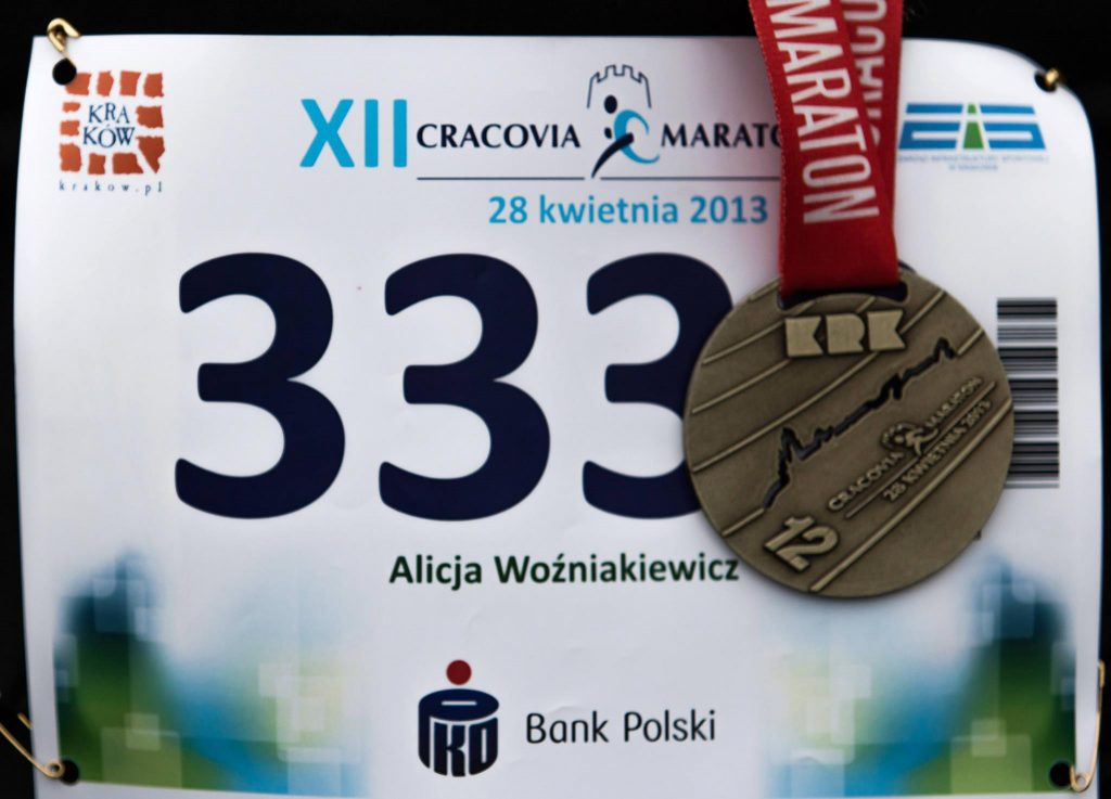 medal, numer startowy, maraton